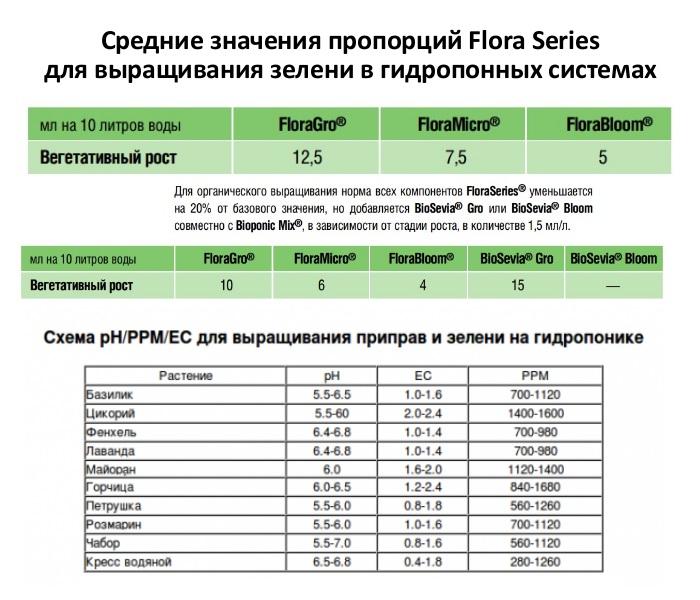 Удобрения для выращивания зелени на гидропонике
