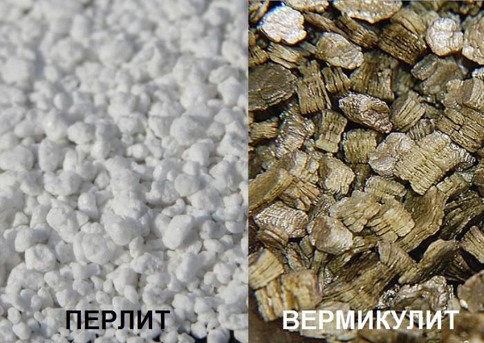 Перлит и вермикулит - на страже водо- и воздухообмена почвосмеси